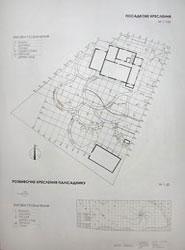Посадочный чертеж приусадебного участка и разбивочный чертеж палисадника
