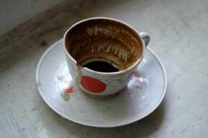 Чашка из первого отеля. Автор фото: Любен