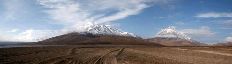 Вулкан Ликанкабур на границе Боливии и Чили
